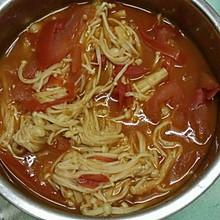 番茄烩金针菇