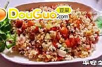 培根虾仁杂蔬蛋炒饭的做法