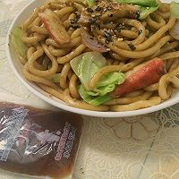 日式炒乌冬#丘比沙拉汁#的做法图解8