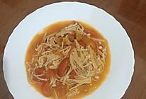 西红柿金针菇的做法
