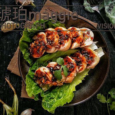 黑胡椒烤蔬菜鸡腿卷