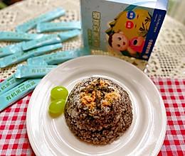 宝宝最爱的美食//黑芝麻酱肉松拌饭的做法