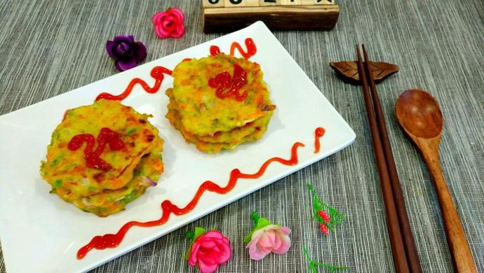 彩色蔬菜鸡蛋饼
