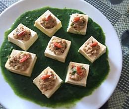 豆腐酿肉末的做法