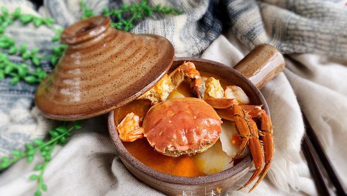#好吃不上火#螃蟹年糕汤