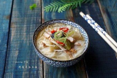 【十分钟美味早餐】榨菜肉丝米线#小妙招擂台#