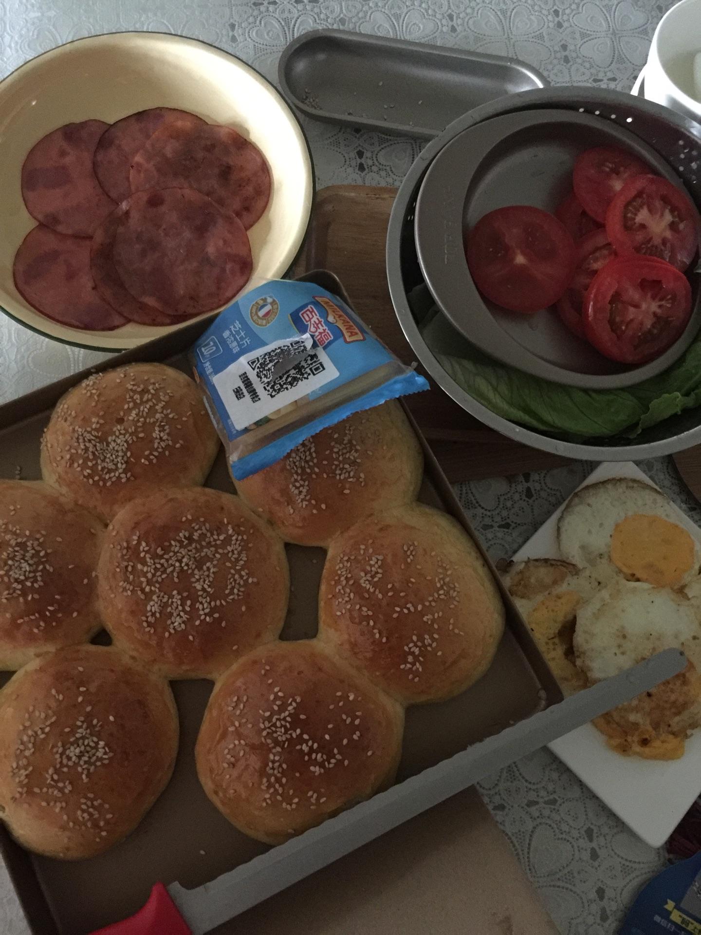芝士火腿汉堡包的做法图解9