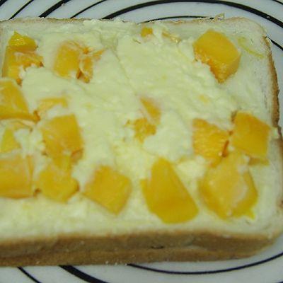 黑米芒果奶酪吐司的做法 步骤7