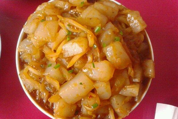 黄瓜炒凉粉的做法