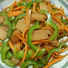 火腿肠炒胡萝卜青椒