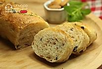 完美早餐-全麦培根橄榄长条面包的做法