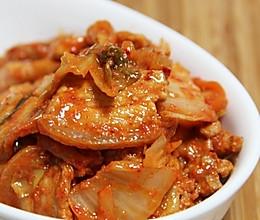 辣白菜炒五花肉的做法