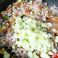 ♡彩虹炒饭♡好吃停不下的做法图解8