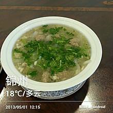 牛肉丸子萝卜丝汤