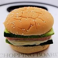 #秋天怎么吃#快手午餐肉黄瓜汉堡包的做法图解11