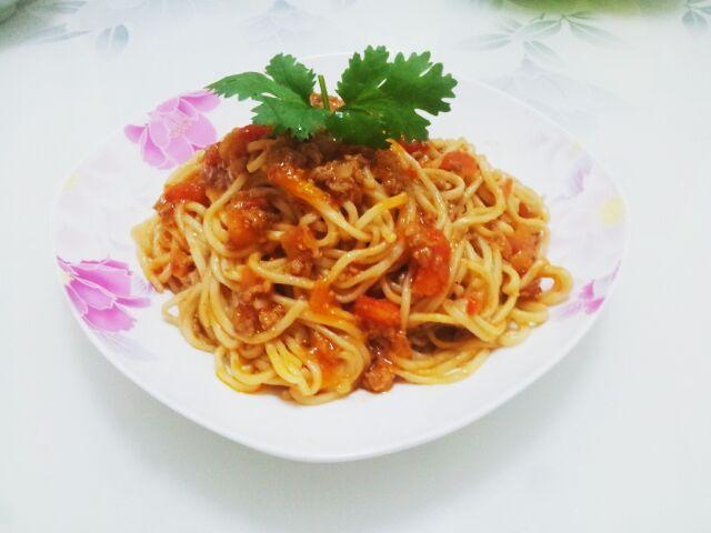 番茄肉酱意大利面的做法步骤
