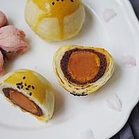 #精品菜谱挑战赛#不裂不爆不混酥,层层分明的经典豆沙蛋黄酥的做法图解38