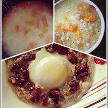 「summer之懒人美食」小米红薯粥&腊肉蒸蛋
