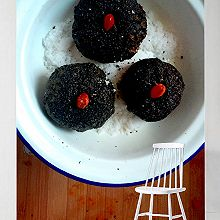黑芝麻南瓜饼
