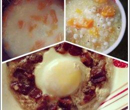 「summer之懒人美食」小米红薯粥&腊肉蒸蛋的做法