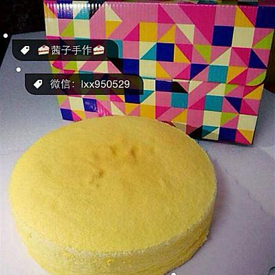 无油酸奶蛋糕(6寸2蛋)