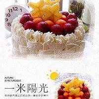 6寸水果奶油花篮裱花蛋糕(附戚风蛋糕制作)的做法图解28