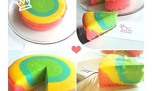 彩虹芝士蛋糕的做法