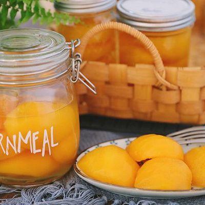 三分钟学会做好吃的黄桃罐头,酸酸甜甜超清爽~