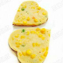 心形奶香玉米豌豆饼