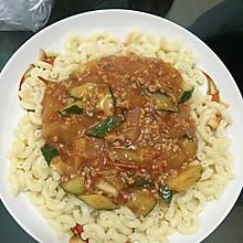 番茄肉酱香菇通心粉