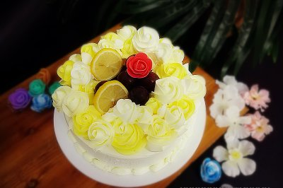 秋梦奶油蛋糕#马卡龙·奶油蛋糕看过来#