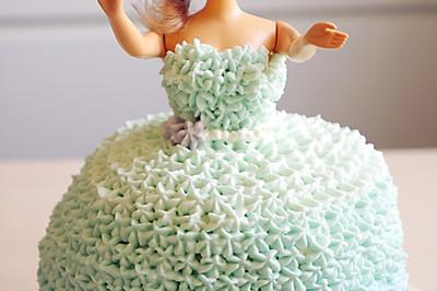 给女孩的芭比蛋糕
