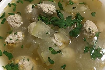 清淡冬瓜肉丸汤