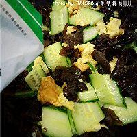 夏日小菜:黄瓜木耳炒鸡蛋的做法图解12