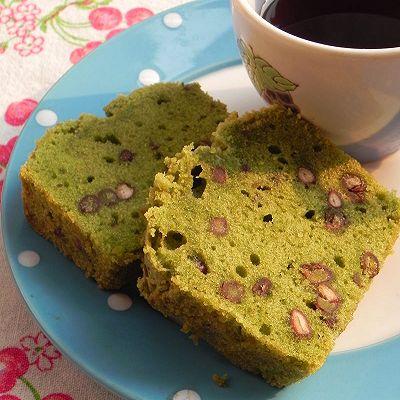 抹茶蜜豆磅蛋糕