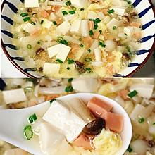 鲜香无比~低脂美味的鸡蛋菌菇豆腐汤