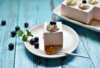 蓝莓酸奶慕斯蛋糕(免烤版)的做法