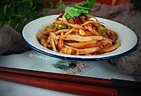 干锅香辣杏鲍菇丝的做法