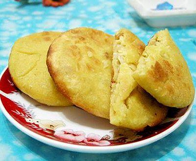 鸡蛋玉米面饼