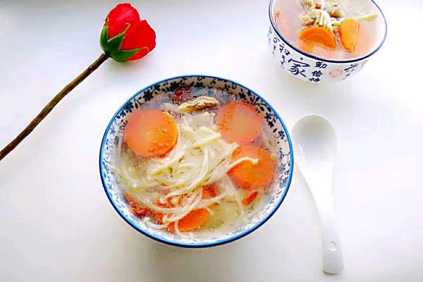 金针菇胡萝卜排骨汤#每道菜都是一台食光机#的做法