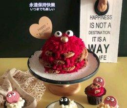 小怪兽蛋糕的做法