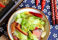 腊肉手撕包菜#自己做更健康#的做法