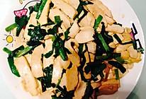快手菜之豆干炒韭菜的做法