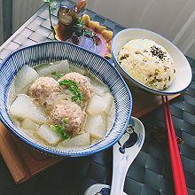 春季去火正当时之冬瓜肉丸汤+杂粮饭