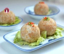 #夏日开胃餐#  低脂鸡肉米饭团子的做法