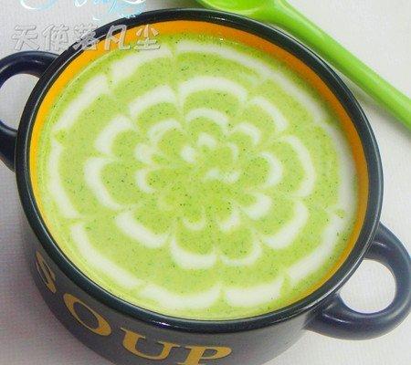春暖花开——西兰花奶油浓汤的做法