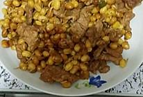 黄豆炒肉的做法
