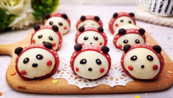 熊猫麻薯蛋黄酥,Q弹软糯,好吃到飞起~