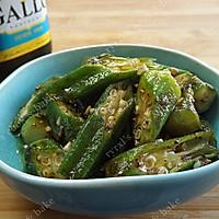 橄露Gallo经典特级初榨橄榄油试用之二——蒜蓉油醋汁拌秋葵的做法图解10