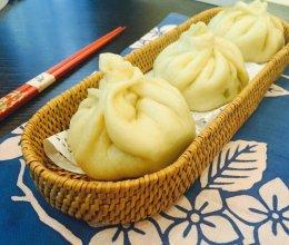 豌豆尖素菜包